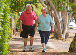 pastimes of seniors - walking