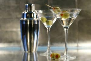 Avanti Senior Living - martinis with shaker